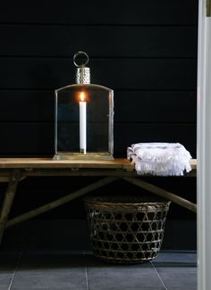 Use the bamboo bench for storage, sitting area or for a lantern to light up the entrance.