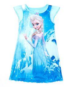 Loving this Blue Frozen Elsa Ice Nightgown - Toddler on #zulily! #zulilyfinds