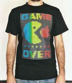 T-Shirt Fluo - Pac Man Game Over