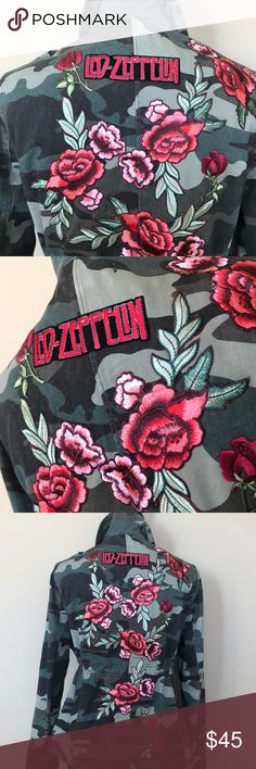 Great Photo Embroidery Patches rock Suggestions Just practising the art of embroidery is actually an effective way connected with paying out your no Skulls And Roses, Hole In One, Embroidery Patches, Green Rose, Led Zeppelin, Fashion Tips, Fashion Design, Fashion Trends, Christmas Sweaters