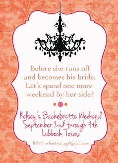 batchelorette invite idea. Isn't this just adorable!