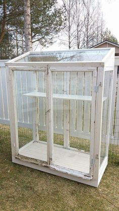 Treibhaus mit alten Fenstern greenhousedesigndiy Greenhouse with old windows greenhousedesigndiy