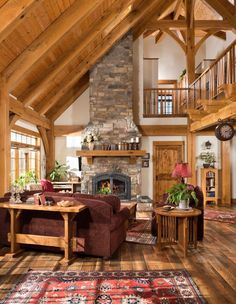 30 Chic Home Design Ideas - European interiors. - Home Decor Ideas Rustic Home Design, Cabin Design, Dream Home Design, Design Design, Log Home Designs, Design Ideas, Timber Frame Cabin, Timber House, Timber Frames