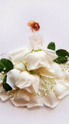 Art Floral, Unique Drawings, Princess Drawings, Floral Fashion, Flower Wallpaper, Whimsical Art, Flower Dresses, Cute Art, Creative Art