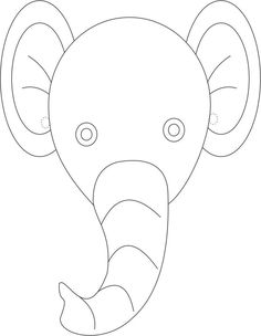 Printable Animal Masks: Elephant Mask Printable Elephant