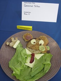 Eau Claire kids -what book would you create out of food? Start thinking and call 715-839-5004 to register for the Clearwater Edible Book Festival, coming up Saturday, February 15th, 2014!   (Geronimo Stilton was an entry from the contest at the Fish Creek Public Library)