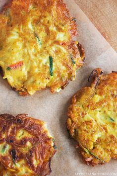 Tomato Basil Veggie Fritters with Spicy Tomato Sauce - Lexi's Clean Kitchen