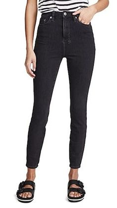 PSA: Black jeans might just surpass your classic blues. To see what we mean, check out our favorite black skinny jeans outfits to copy now. Jeans Price, Summer Fashion Trends, Mid Rise Skinny Jeans, China Fashion, Jean Outfits, Mens Clothing Styles, Denim Fashion, Stretch Denim, Pants For Women