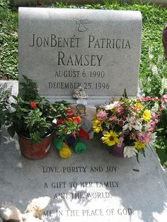 famous cemeteries, graveston, death, unsolved murders, grave stone, unsolv murder, famous gravesit, jonbenet ramsey, unsolv mysteri