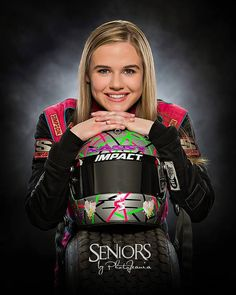 Love the racing senior photos *pictured: McKenna Hasse* Car Senior Pictures, Senior Photos Girls, Senior Picture Outfits, Senior Girls, Grad Pictures, Female Race Car Driver, Car And Driver, Sprint Cars, Race Cars
