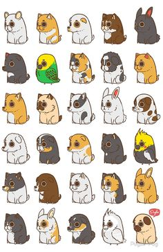 Puglie and Friends by Puglie Pug