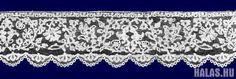 Halasi Csipke + Halas Lace - Halaser SpitzeSzószéktakaró szegélye Pulpit cloth trimming Besatz der Renderpultdecke Stepanek Ernő 1930-as év 24.5 x 350 cm