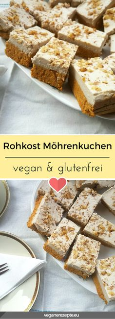 Möhrenkuchen Vegan Cake vegan cake near me Vegan Cru, Roh Vegan, Raw Vegan Cake, Raw Cake, Raw Food Recipes, Low Carb Recipes, Cake Recipes, Sweet Bread Meat, Healthy Carrot Muffins