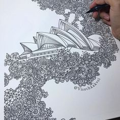 """Pen illustration by Sydney - Extrusion. The """"Extrusion"""" Series. Doodle Art Drawing, Pencil Art Drawings, My Drawings, Drawing Girls, Drawings Pinterest, Ink Illustrations, Pen Illustration, Detailed Drawings, Sketch Painting"""