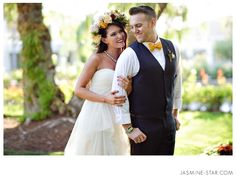 Gorgeous floral fascinator! - Created by #TheLittleBranch via #jasminestar Nixon Library Wedding : Hipster Hollywood