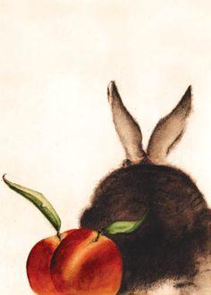 """Thank you - everything was peachy!"" CC Barton bunnies"