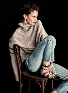 Why not make your own pattern? I can see this sweater made in a good linen. I love the loose turtle neck!