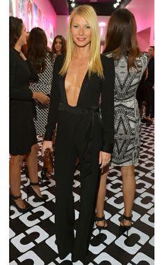 """Gwyneth Paltrow WHAT:  Diane von Furstenberg jumpsuit, Rona Pfeiffer ring WHERE:  Diane von Furstenberg's """"Journey of a Dress"""" exhibition op..."""