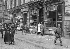 A Berlin butcher's shop looted in a food riot, 1919. The blockade of Germany was maintained during the period between the armistice and the signing of the Treaty of Versailles in June 1919. This caused huge resentment in Germany.