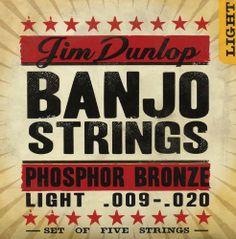 Jim #Dunlop DJPS10 10 Gauge Phosphor Bronze Banjo String, Light (Single) $1.03