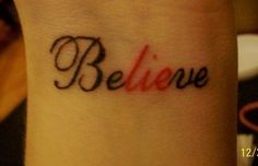 23. THE BEST PART OF BELIEVE IS THE LIE | Community Post: 27 Fall Out Boy Tattoos You Wish You Had