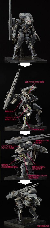 "[METAL GEAR SOLID V:THE PHANTOM PAIN] RIOBOT Series ""Metal Gear Sahelanthropus"" ""Metal Gear REX"" Full Official REVIEW, Full Info http://www.gunjap.net/site/?p=274337:"