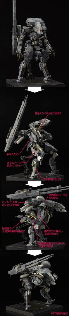 "[METAL GEAR SOLID V:THE PHANTOM PAIN] RIOBOT Series ""Metal Gear Sahelanthropus"" ""Metal Gear REX"" Full Official REVIEW, Full Info http://www.gunjap.net/site/?p=274337:"