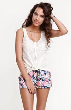 Kirra  Button Front Pocket Sleeveless Shirt