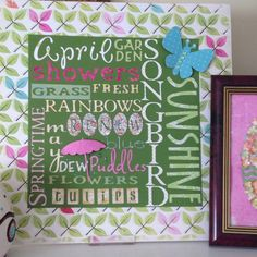 Spring subway art using scrapbook letters
