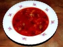 Boršč mírně zahuštěný zátřepkou z polohrubé mouky Chili, Salsa, Soup, Mexican, Ethnic Recipes, Chile, Salsa Music, Soups, Chilis