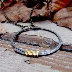 Tangleweeds. ~hand-forged brass and steel pedant~