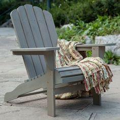 Outdoor Belham Living Shoreline Wooden Adirondack Chair - Driftwood - W3689-D