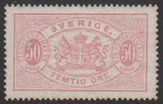 Sweden 50ö Red (Official) Tjänste. Facit no. TJ9. Perf. 14.