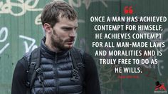 Paul Spector: Once a man has achieved contempt for himself, he achieves contempt for all man-made laws and moralities and is truly free to do as he wills.  More on: https://www.magicalquote.com/series/the-fall/ #PaulSpector #TheFall #TheFallQuotes
