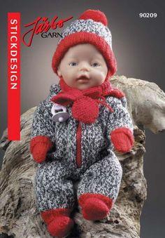 90209. Dockkläder Knitting Dolls Clothes, Crochet Baby Clothes, Doll Clothes Patterns, Doll Patterns, Baby Born Clothes, Pet Clothes, Knitting For Kids, Baby Knitting Patterns, Crochet Dolls