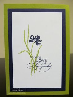 love the color combination Stampin' Up supplies used Stamp set - Love and Sympathy Card stock - Old Olive, Concord Crush, Whisper White Ink - Concord Crush, Old Olive *edited* Card design - Jo Dumbleton