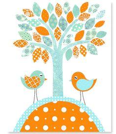 https://www.etsy.com/es/listing/186407238/bird-nursery-art-orange-and-aqua-tree?ref=related-7