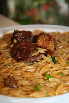 FOOD4PEACE: Μοσχάρι με πετιμέζι και κριθαράκι