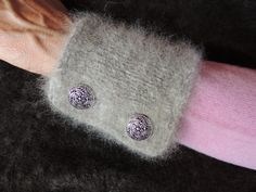 Chiengora Sweater Cuffs by KnitYourDog on Etsy