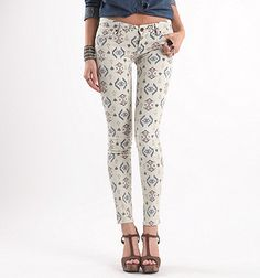 Bullhead Black South Tribe Printed Skinniest Jeans - PacSun.com