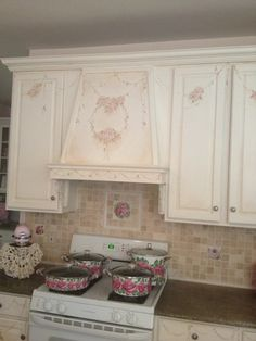 Pretty hand painted kitchen