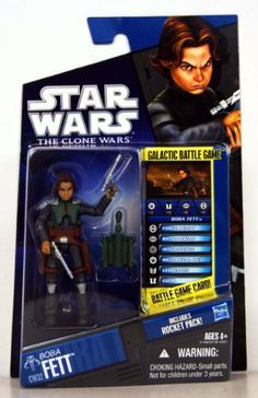 Star Wars The Clone Wars Young Boba Fett CW32 - 3-3/4 Inch Scale Action Figure…