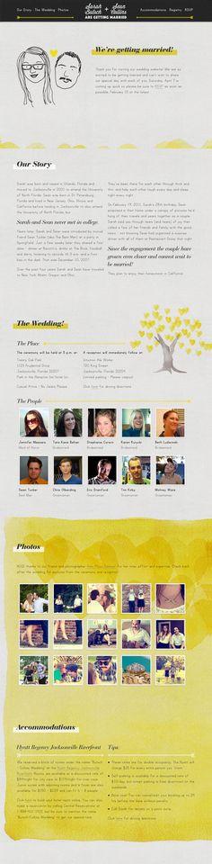 Unique Web Design, Sarah & Sean @silviatateo #WebDesign #Design (http://www.pinterest.com/aldenchong/)