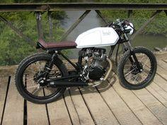 honda cg125 brat style cafe racer flat tracker over 2k spent | eBay