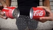 A Coca-Cola Can That Splits Into Two Smaller Cans, For Sharing - DesignTAXI.com