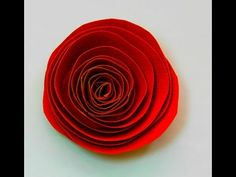 Quilling Rose Tutorial: How to make a rose with a paper stripe. Quilling rose making - YouTube