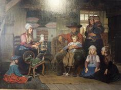 Dit prachtige schilderij van een Marker familie hangt in het Marker museum. Het is geschilderd door de Belgische schilder Adolf Alexander Dillens in 1877 en in 2009 door het museum aangekocht.