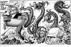 "Columbus (@ColumbusDM)   Twitter   ""Kraken"" por @Kaltoons vía @TheEconomist #CaricaturaDelDía #Cartón #Moneros #BuenViernes #Política #EU #Rusia #Trump #Putin #FelizFinde"