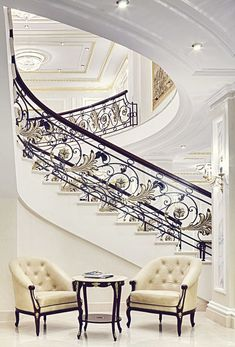 Elegant Staircase in The State Hermitage Hotel Villa Plan, Attic Renovation, Attic Remodel, Grand Staircase, Staircase Design, Attic Staircase, Attic Ladder, Hermitage Hotel, Attic Design
