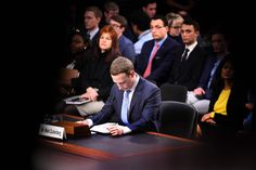 Facebook CEO Mark Zuckerberg testifies at a Senate Commerce, Science and Transportation Committee and Senate Judiciary Committee hearing on Capitol Hill, April 10.
